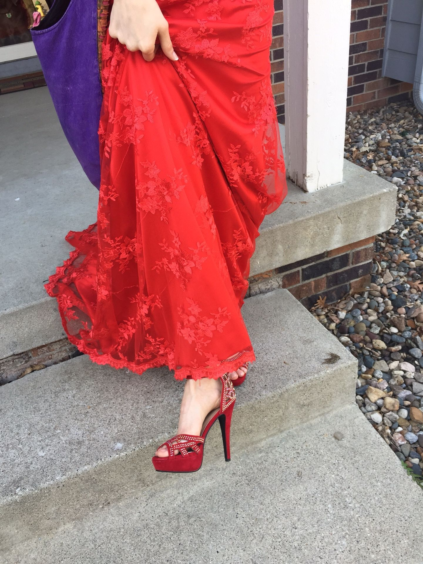 Prom dress & matching shoes