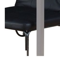Saltoro Sherpi Adjustable Metal Futon with Faux Leather Upholstered Tufted Details and Casters, Black Thumbnail
