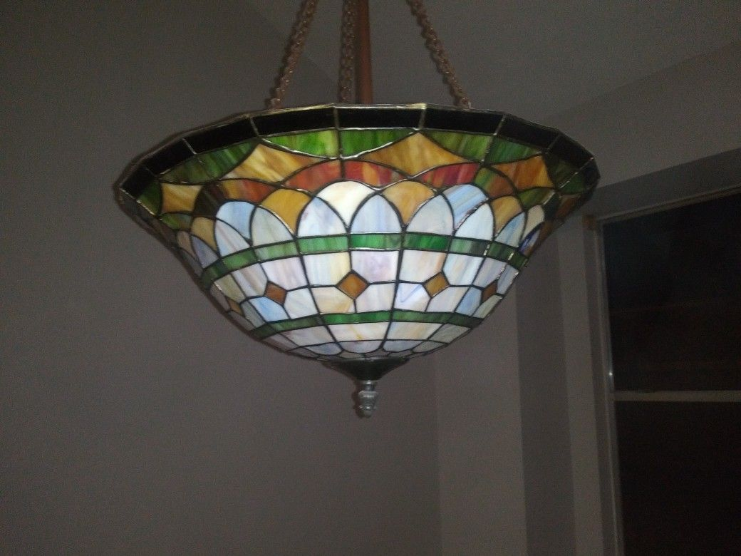 Stained glass dining rm light
