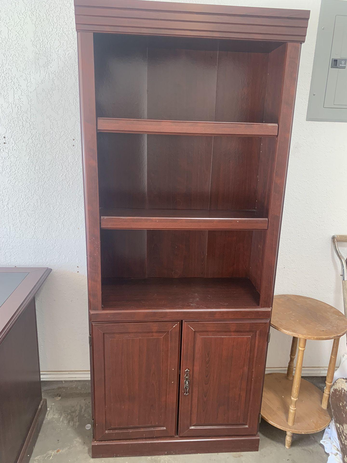 Executive Desk With Shelf