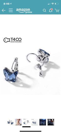 Blue purple butterfly bracelet, earrings & necklace Thumbnail