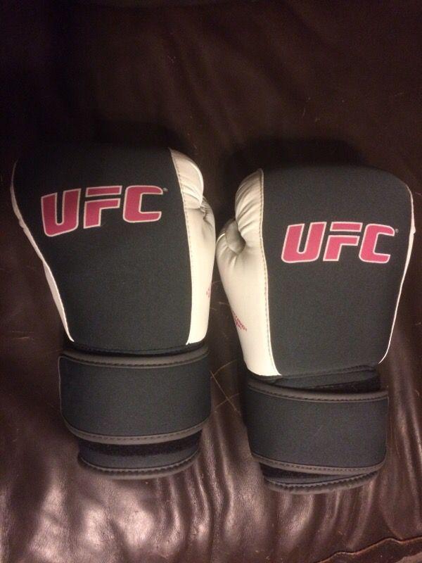UFC boxing gloves.