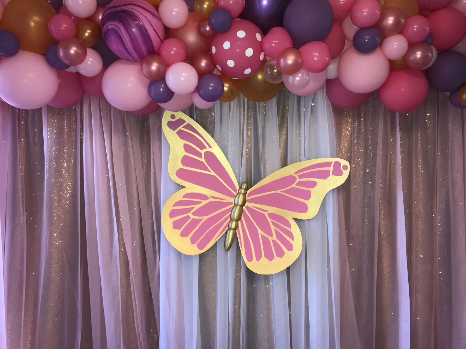 Paper Butterfly Birthday Party Decoration