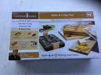 Copper chef 5 pc bake and crisp baking set Thumbnail