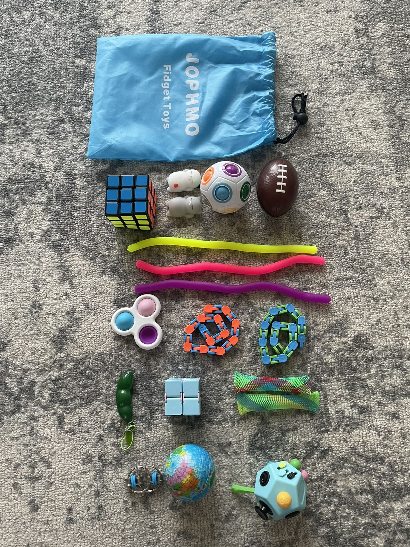 18 Pc Fidget Pack and Bag