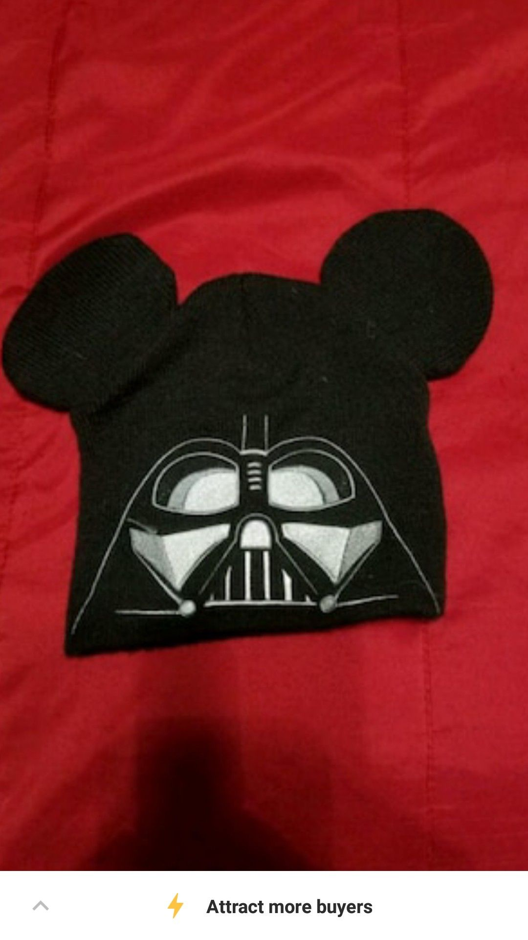 Darth Vader Mickey Mouse Ears Beanie