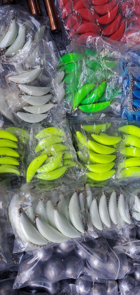 Downrigger balls, Drift boat Anchor's, Cannonball fishing weights, Flutter/Pipe jigs, Crabpot weight