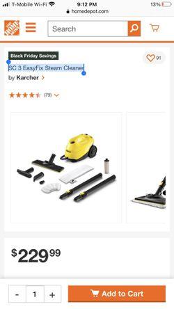 New Karcher SC 3 EasyFix Steam Cleaner Thumbnail