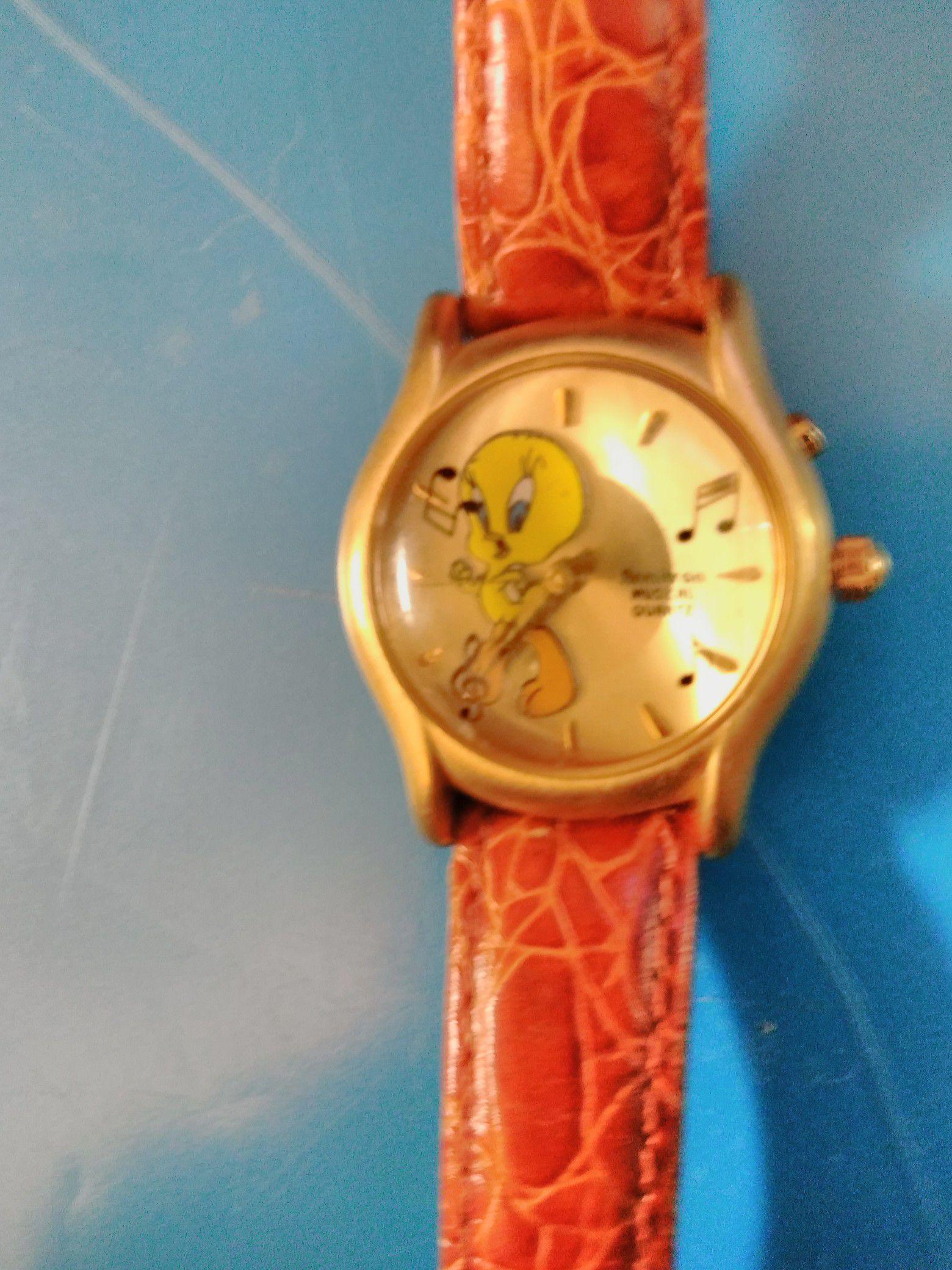 Rare musical Tweety Bird watch