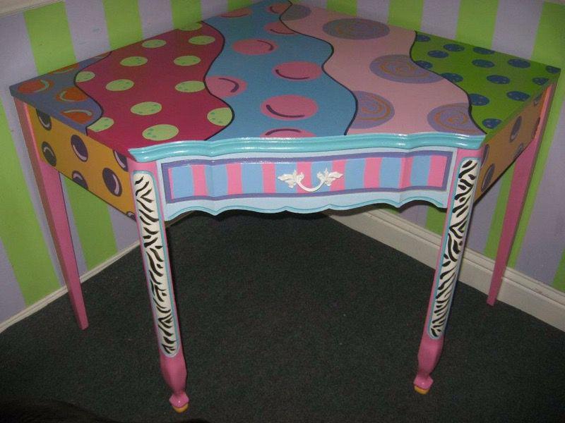 Corner Desk- hand painted