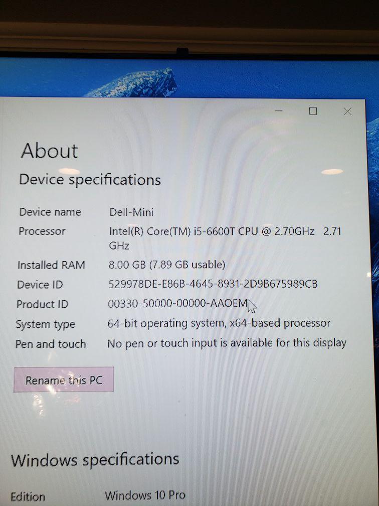 Dell computer windows 10