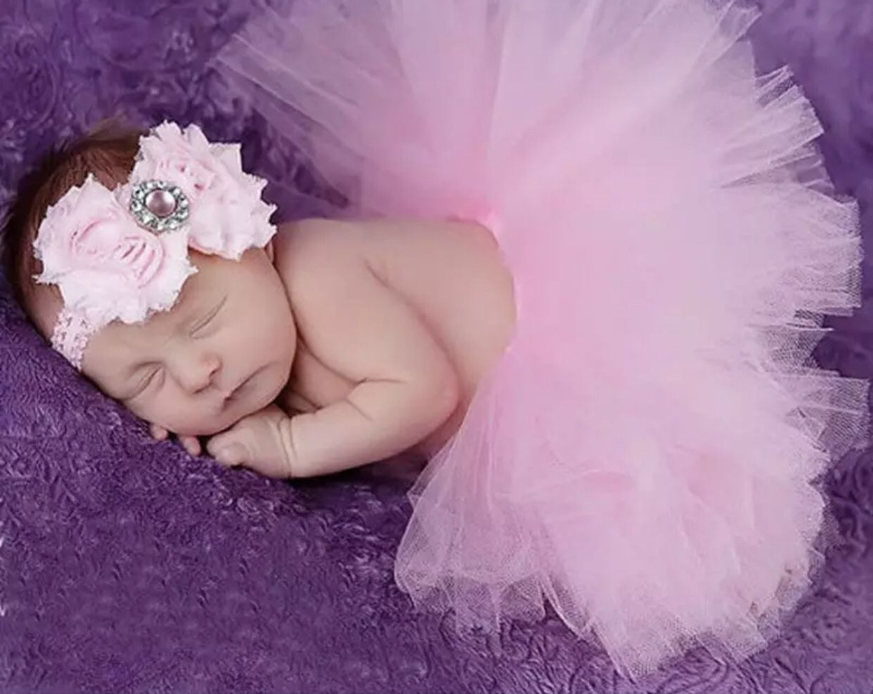 Size 0-3 months Baby Tutu Skirt With Matching Flower Headband Baby Photography Props Bow Girl Tulle Tutu Skirt And Hair Accessories