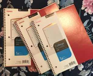 Notebook Bundle Red New Lined School Office Set Thumbnail
