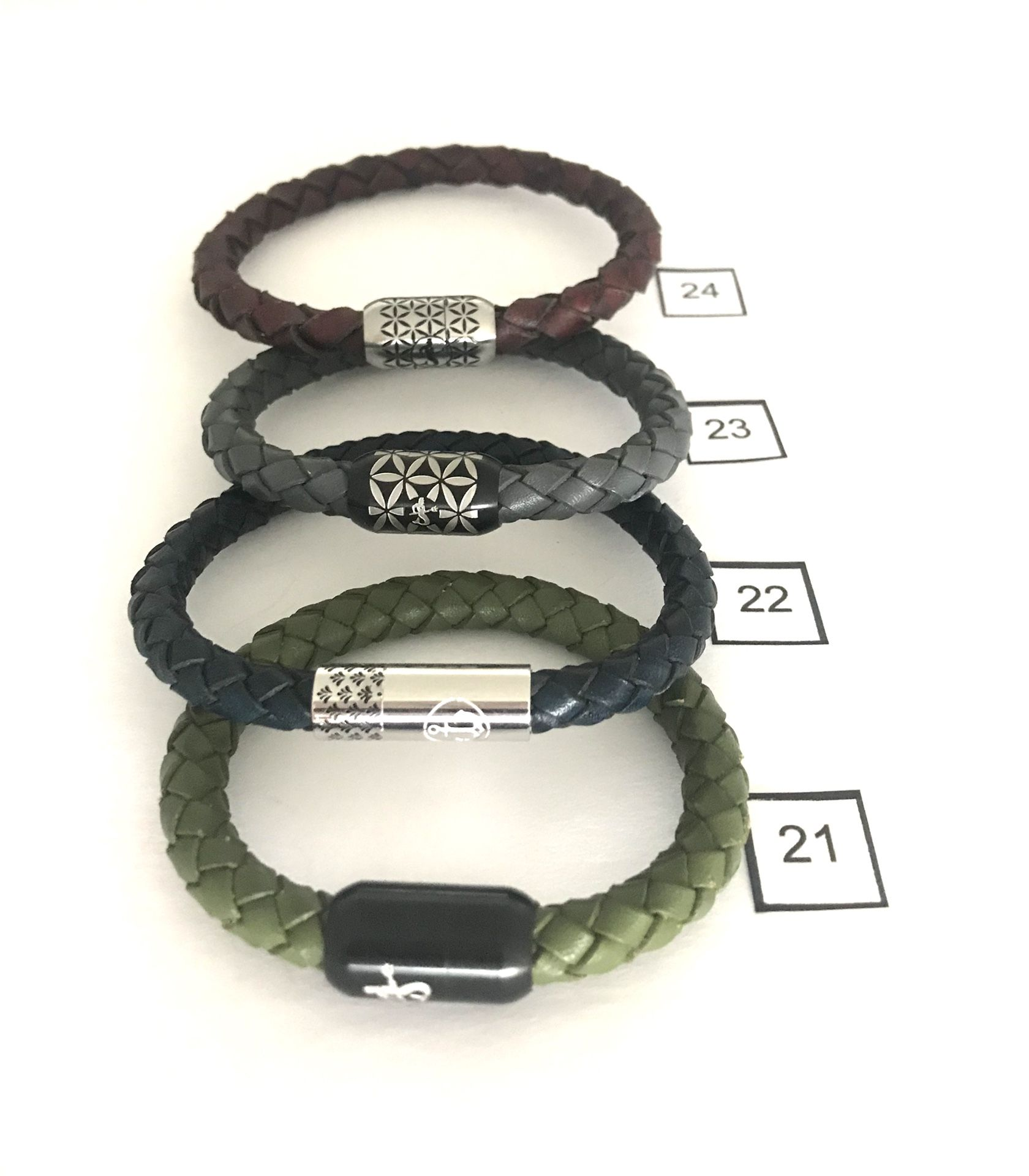Bracelets . Leather And Rope   Clearance Collection