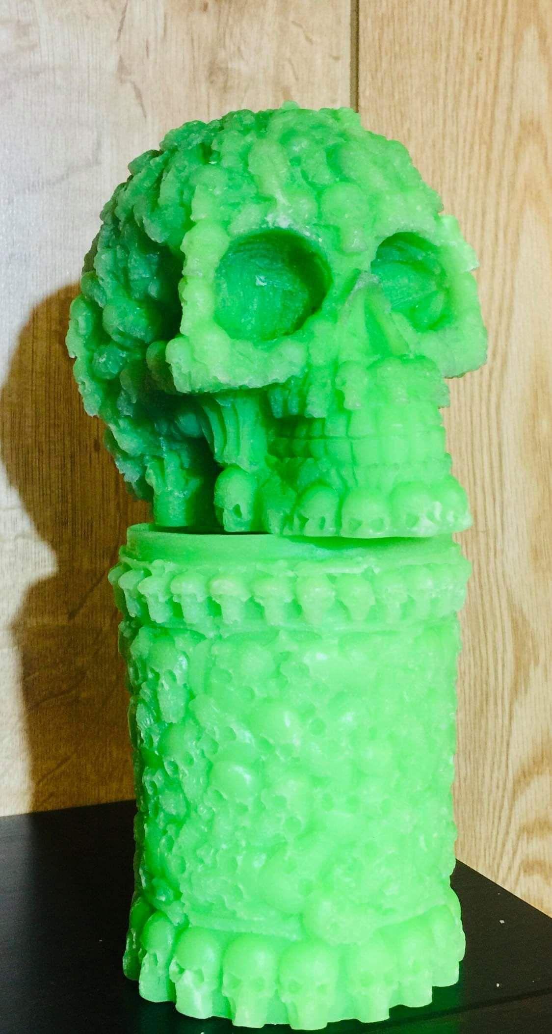 Skull Candle And Skull Pillar