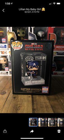 Funko Pop Captain America Die Cast Funko Exclusive  Thumbnail