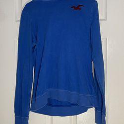 Hollister Blue Hoodie/TShirt Size Large Thumbnail