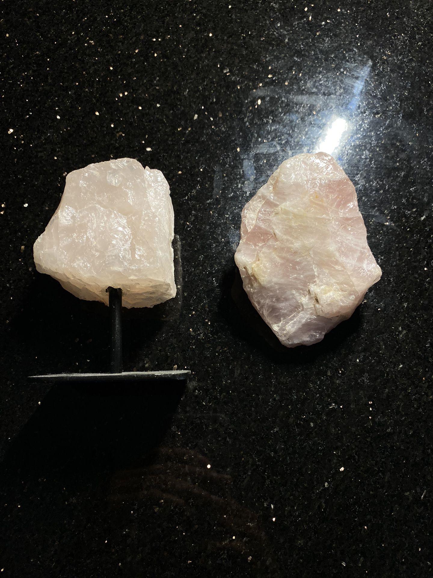 Authentic Large Rose Quartz Crystal Set