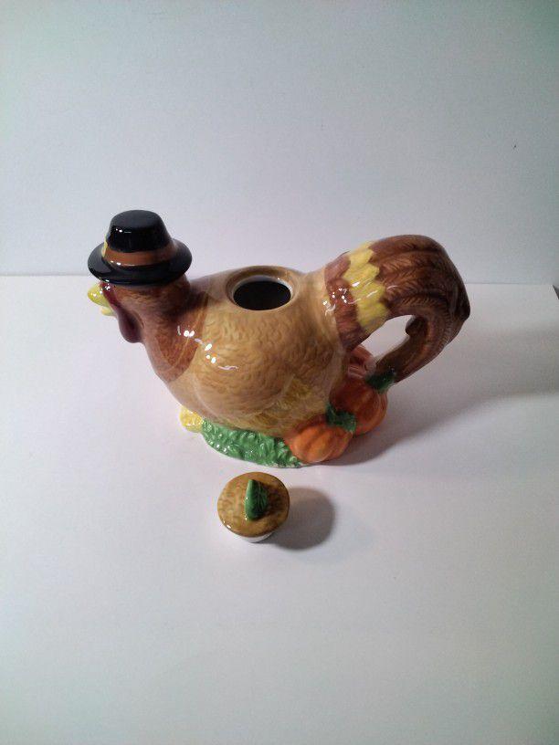 A Very Cute Turkey Tea Pot .