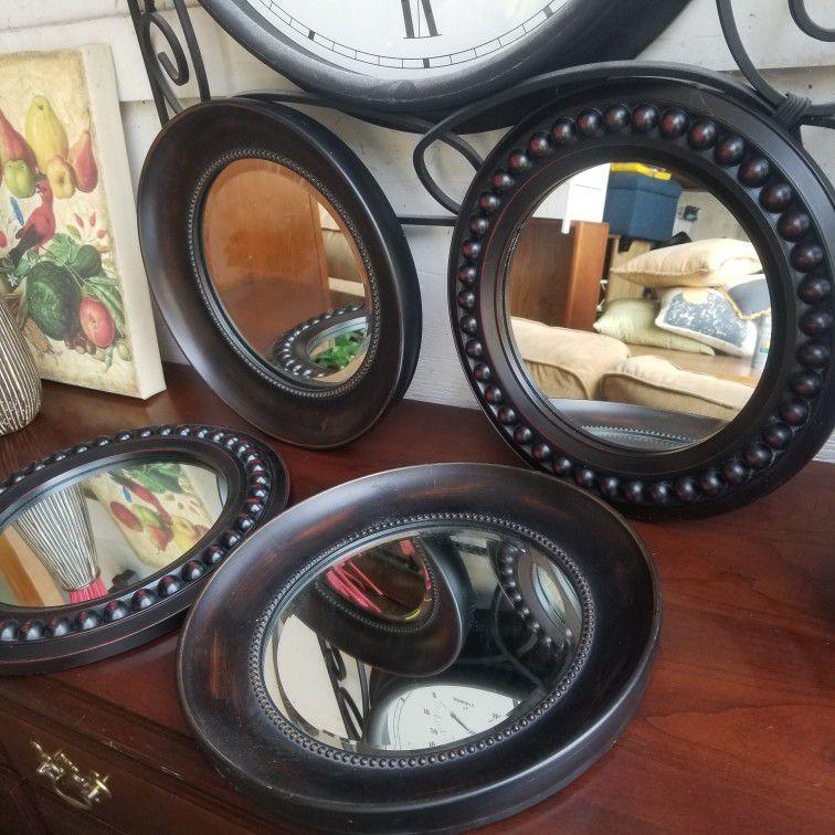 4 Pewter Mirrors
