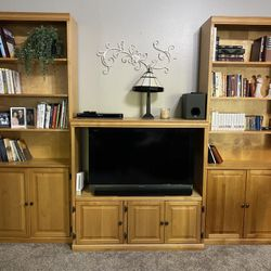 Entertainment Center And Book Shelves And Flat Screen Tv Included!! Thumbnail