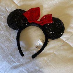 Disneyland Minnie Mouse Sequin Ear Headband Thumbnail