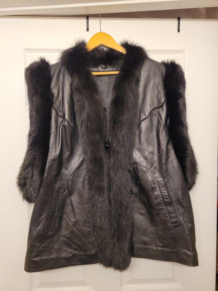 Leather Fur Vest