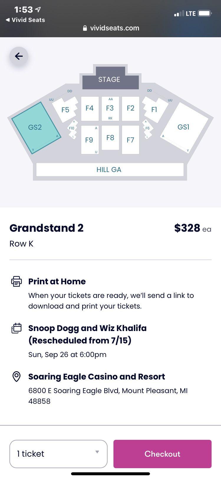 Snoop Dogg And Whiz Khalifa Tickets