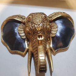 Gold Elephant Head Black  Thumbnail