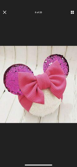 Babygirls head band Minnie Mouse ears Thumbnail