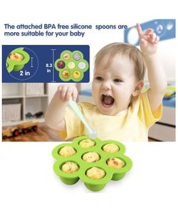 Silicone Egg Bites Molds and Steamer Rack Trivet with Heat Resistant Handles Compatible Thumbnail
