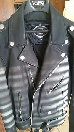 Suede Heavy Indian Head Motorcycle Jacket. XXL... Thumbnail