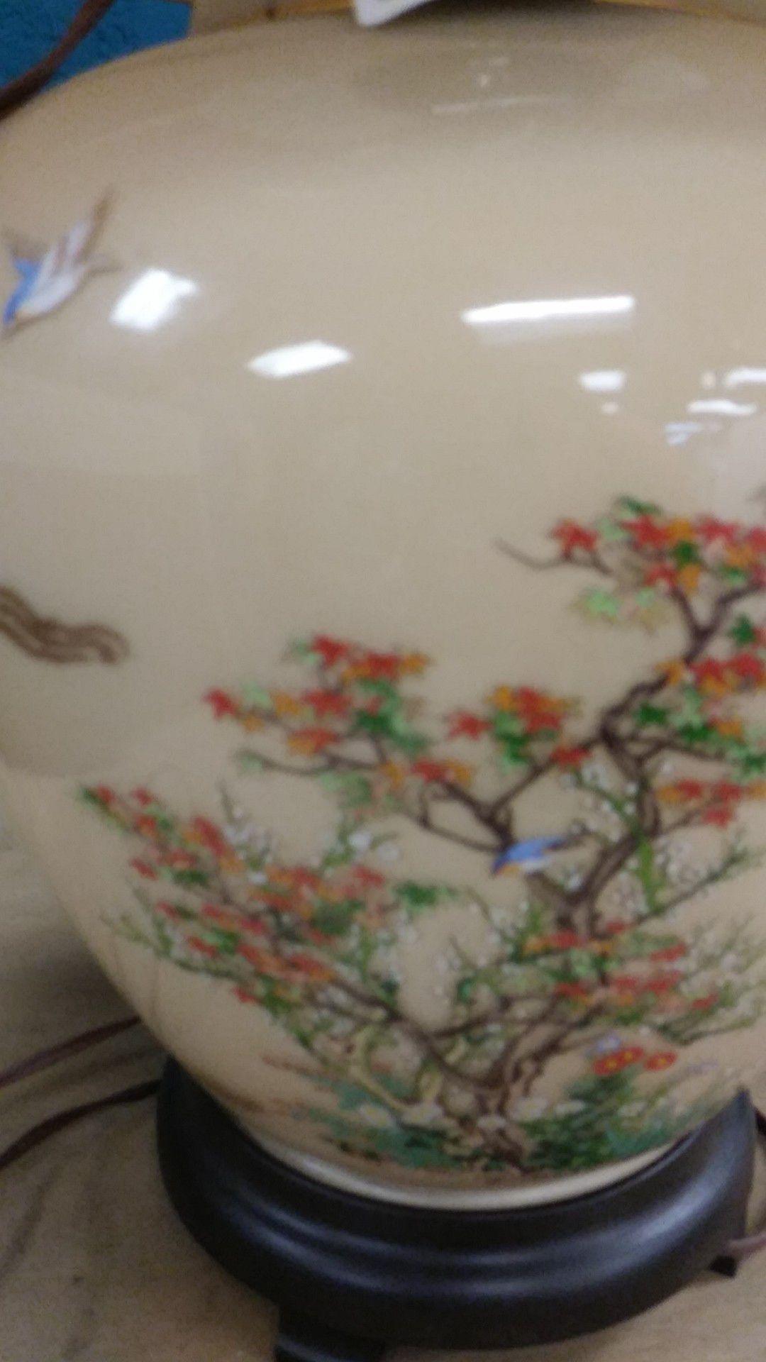 Vintage Oriental Style Lamp