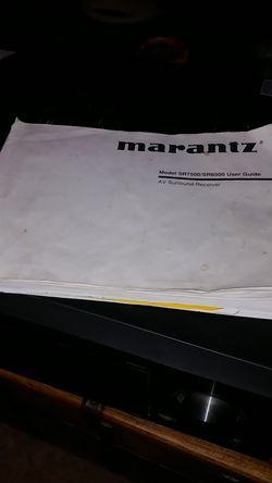 Marantz model sr8500 AV Surround Receiver Thumbnail