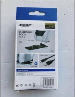 New DOBE Dual Charging Dock  For PS5 Controllers  Thumbnail