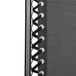 2pcs Plum Blossom Lock Portable Folding Chairs with Saucer Black Thumbnail