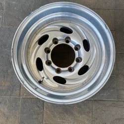 """Weld Typhoon 16.5 Aluminum Alloy Magnesium Truck Rim 16.5"""" X 12 8 X 6.5 Ford Chevy Dodge Will Fit All 90's Or Before Thumbnail"""