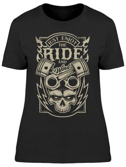 Smartprints Just Enjoy The Ride, And Wind Tee Women's -Image by Shutterstock Black Size S Thumbnail