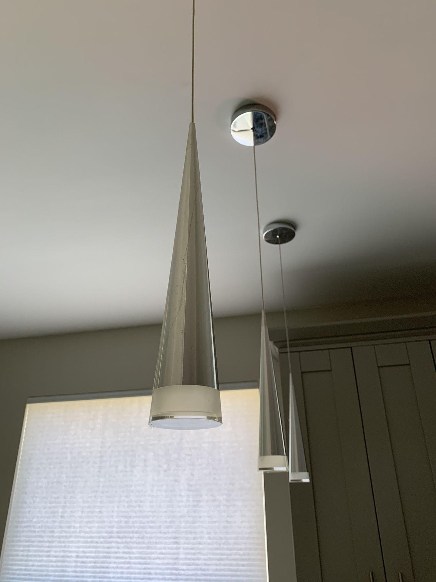 (3) LED Modern Pendant Lights