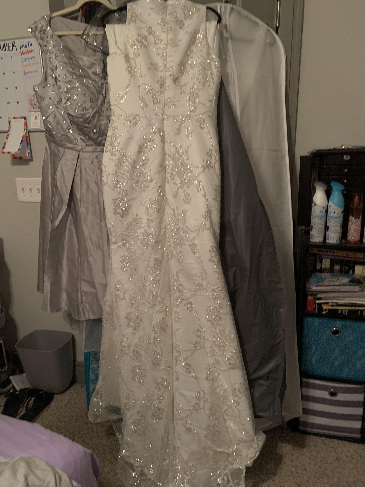 Wedding/Evening Dress With Detachable Train
