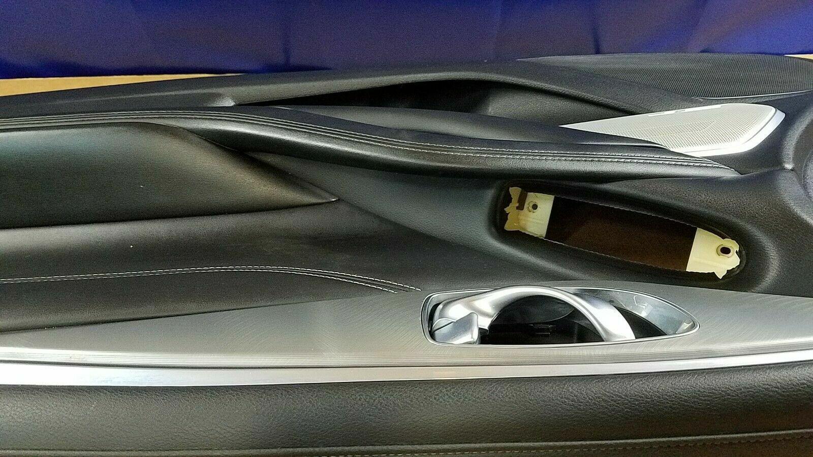 2017-2020 INFINITI Q60 FRONT RIGHT PASSENGER SIDE DOOR TRIM PANEL BLACK # 69374