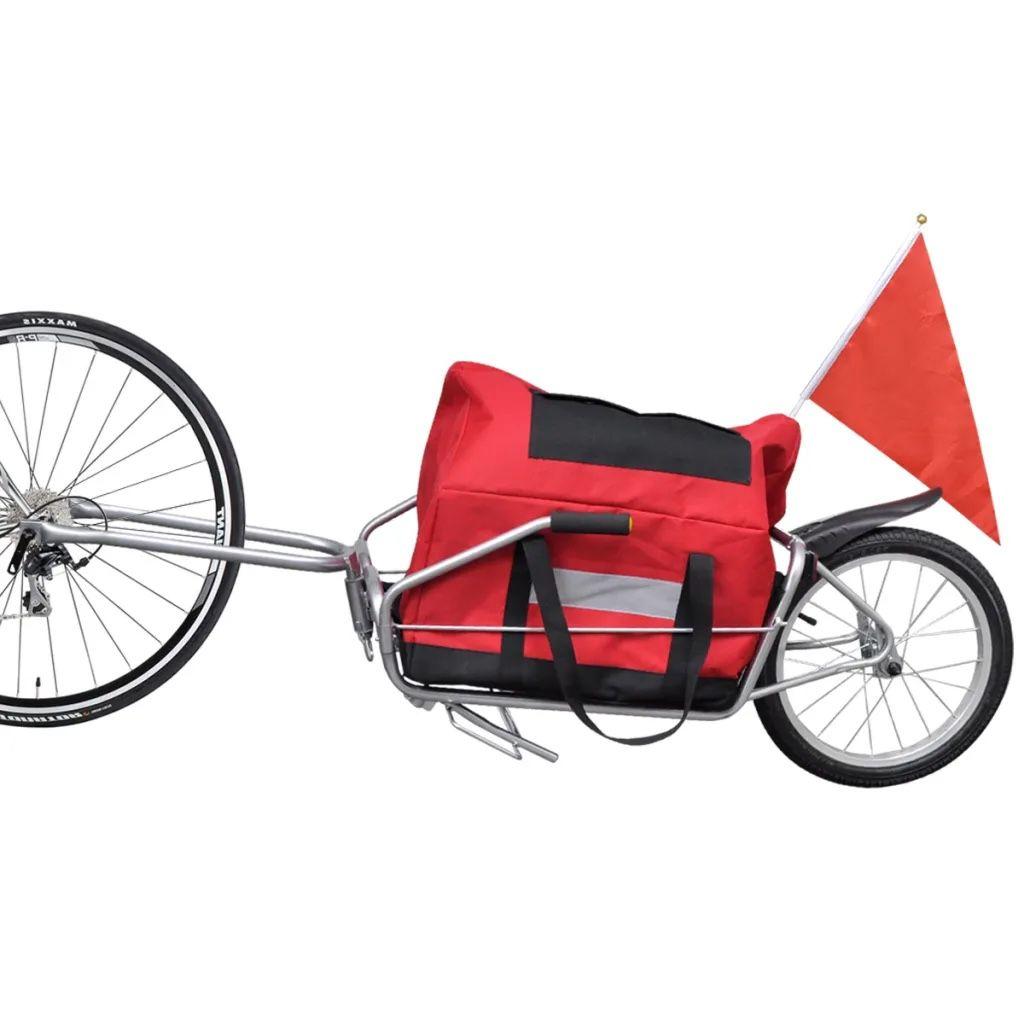 Bìcycle Càrgo Tràiler One-wheel with Stōrage Bag