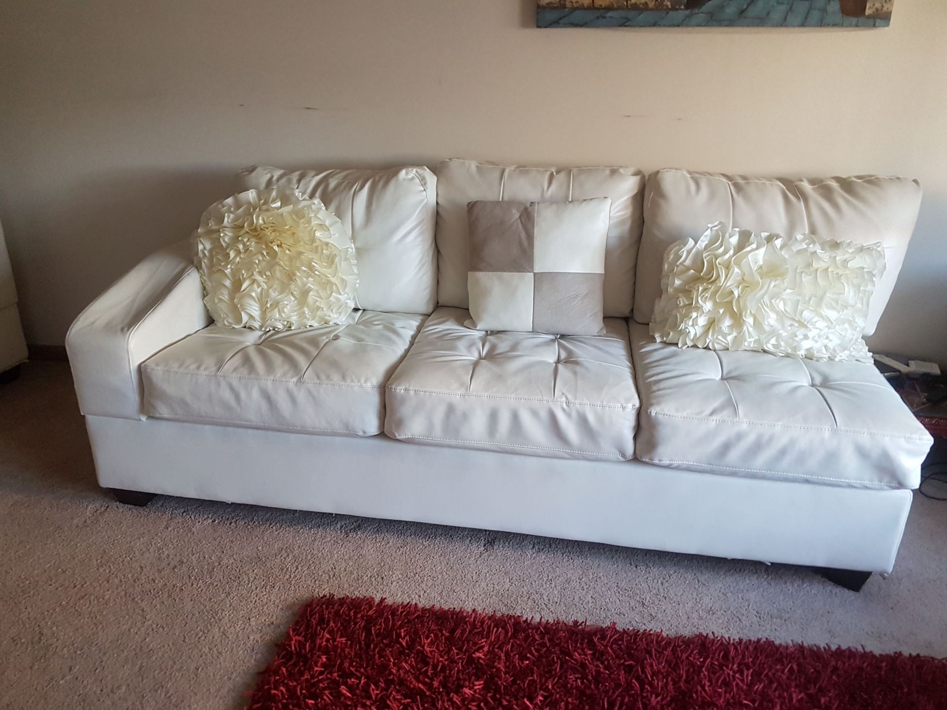 White leather sectional couche shape sofas