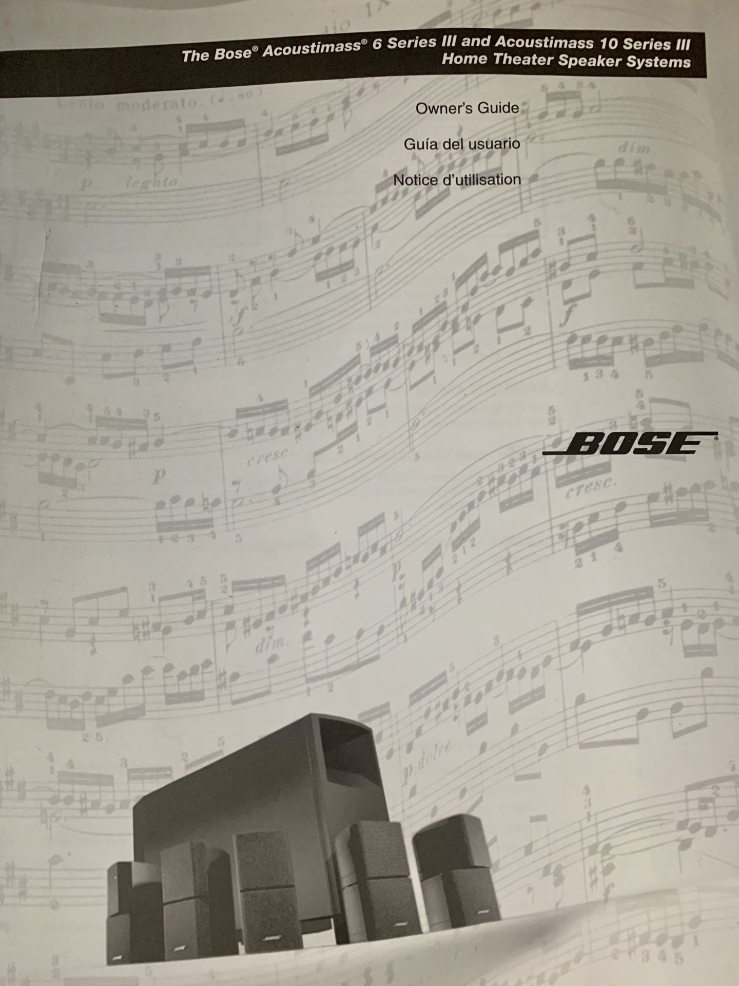 Bose Acoustimass 10 Series & Pioneer Elite Receiver