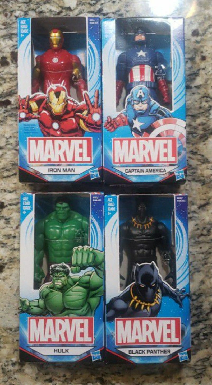 MARVEL SUPER HERO LOT CAPTAIN AMERICA. BLK PANTHER