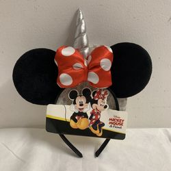 Girl's Disney MINNIE MOUSE Unicorn Ears - NWT Thumbnail