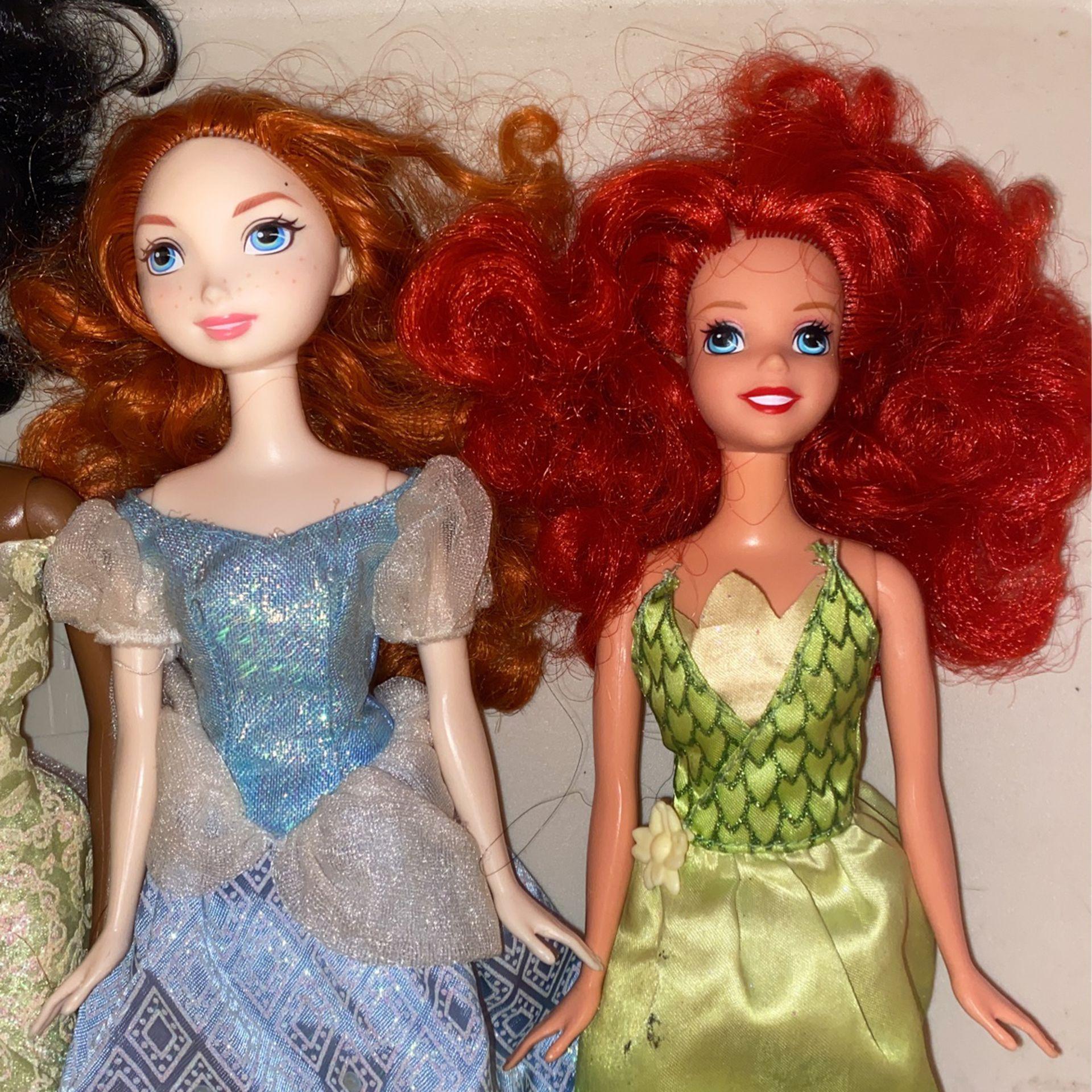 Disney Princess Dolls All 5 For $10