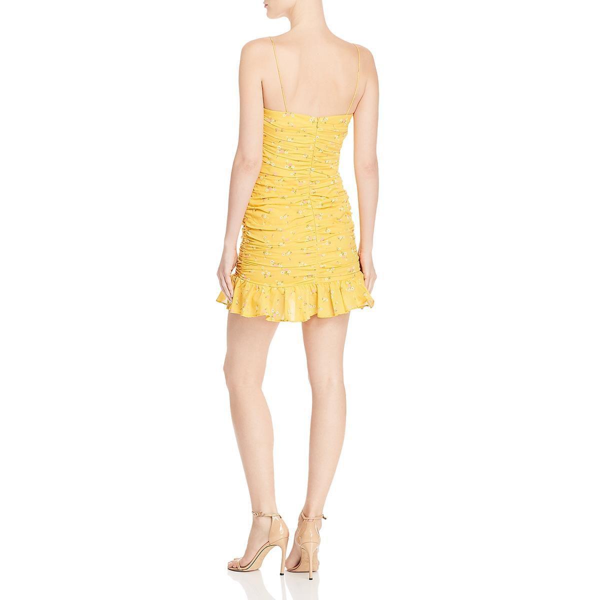 Bec + Bridge Womens Flounce Dress Yellow Size 8