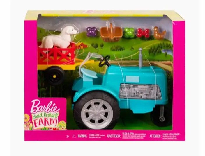 Barbie Sweet Orchard Farm Tractor And Wagon