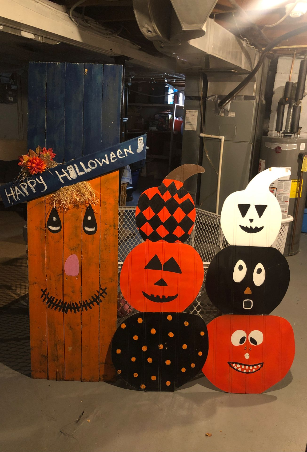 Decorations of Pumpkins and would